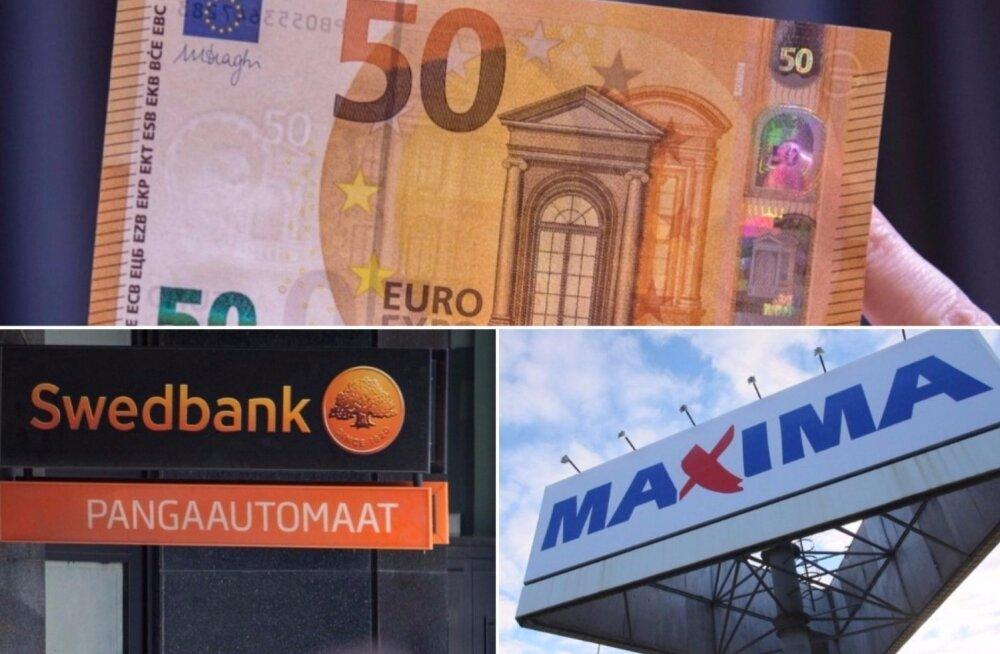 Maxima kassa ei tunnistanud Swedbanki sularahaautomaadist pärit 50-eurost, maksnud vanaprouat hirmutati politseiga