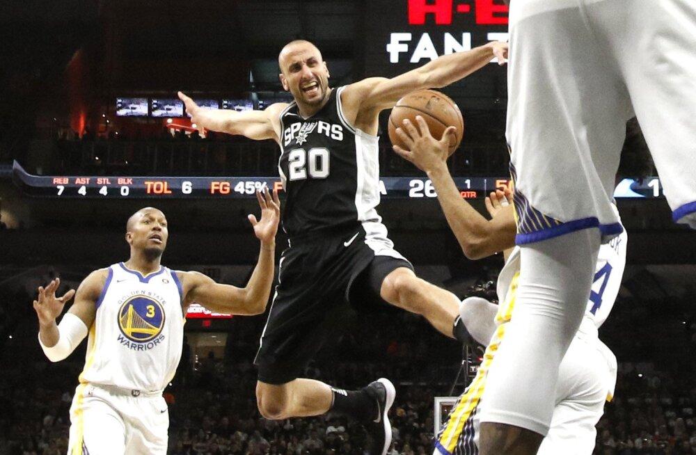 VIDEO | Spurs tuli Warriorsi vastu rongi alt välja, Cleveland viigistas seeria