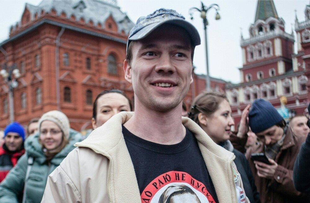 Ildar Dadin 2014. aasta aprillis Moskvas. Oma arvamuse väljendamiseeest vangi pandudDadini piinati jõhkralt ja tema praeguneasukoht on teadmata.