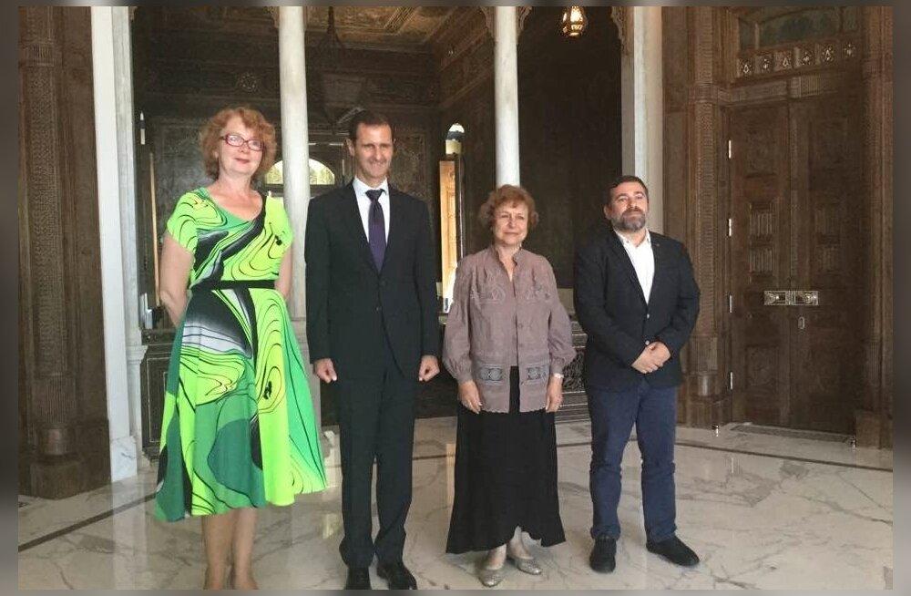 Yana Toom, Bashar al-Assad, Tatjana Ždanoka ja Javier Couso Permuy
