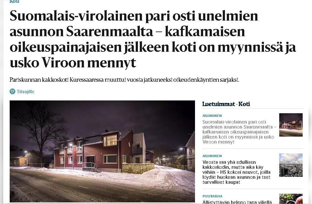 MEIE MAA | Soome juhtivas lehes heidetakse Kuressaarele ette korruptsiooni