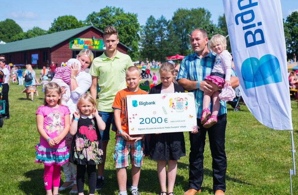 Aasta Suurpere 2016 on 9-liikmeline perekond Aan Tartumaalt