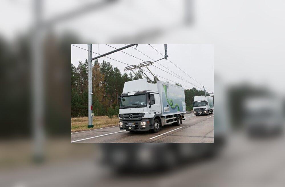 ВИДЕО: Гибрид грузовика и троллейбуса от Siemens