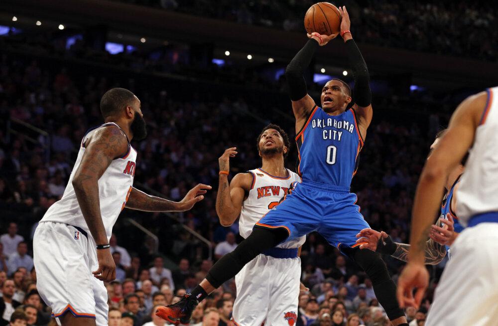 Westbrook jõudis isegi keskmistes näitajates kolmikduublini