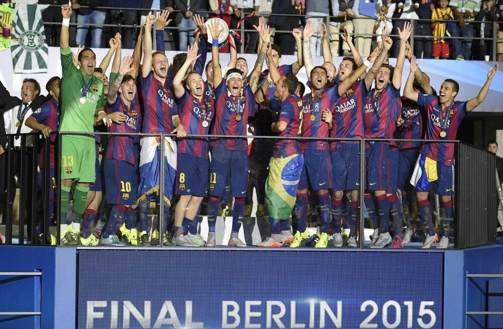 FOTOD JA VIDEO: Juba neljandal minutil skoorinud Barcelona võitis Berliinis Meistrite liiga karika