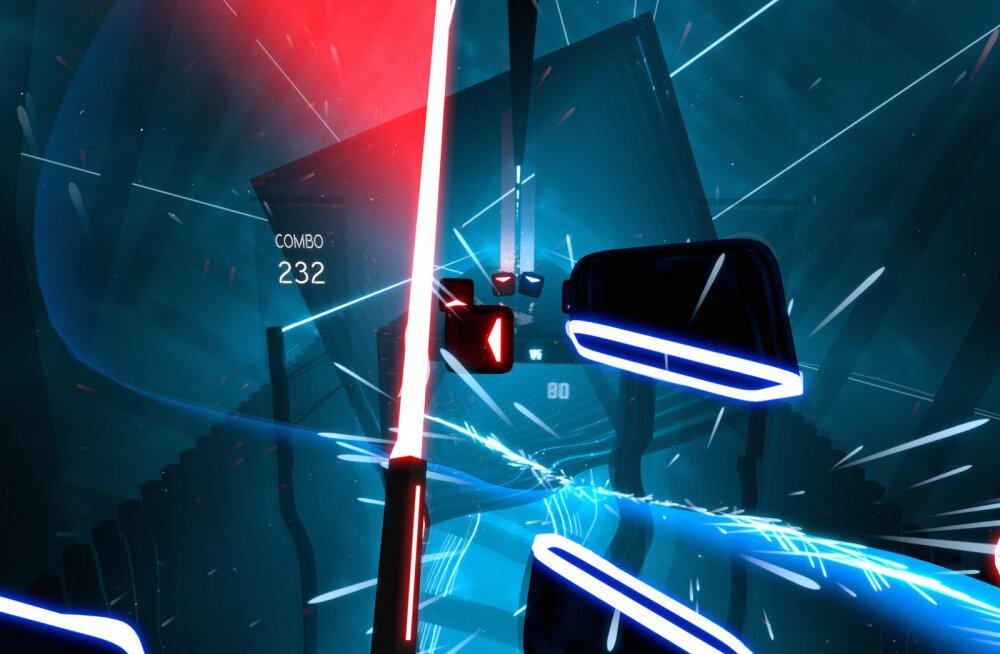 """""""Puhata ja mängida"""" vaatleb virtuaalses reaalsuses videomängu: Beat Saber – aasta VR-hitt?"""