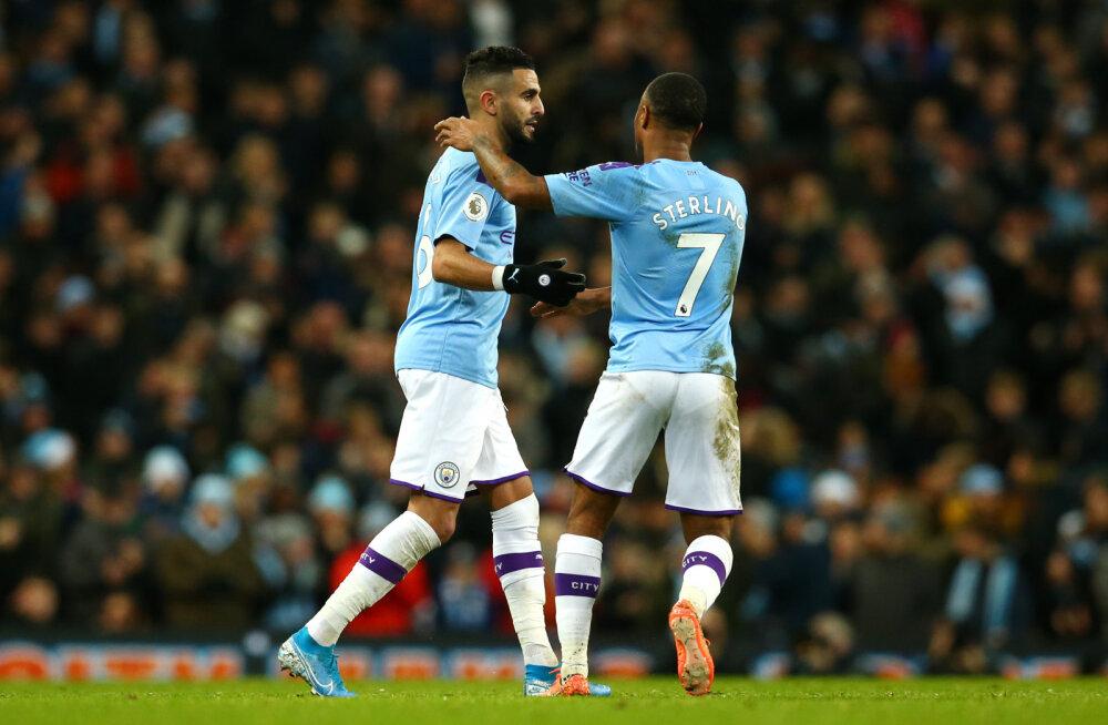 Teise koha eest võitlev Manchester City sai Leicesteri üle magusa võidu