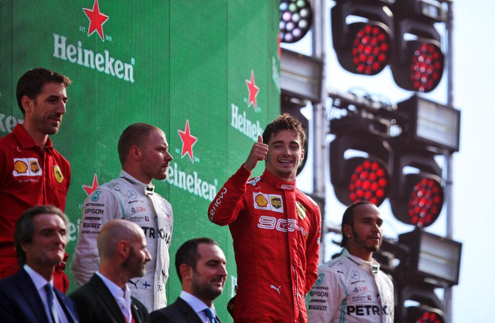 Bottas: Leclerc on oma vanuse kohta väga karm sõitja