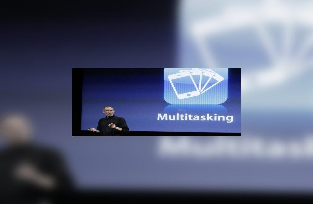 Jobs tutvustab iPhone OS 4.0 üht tähtsaimat uuendust
