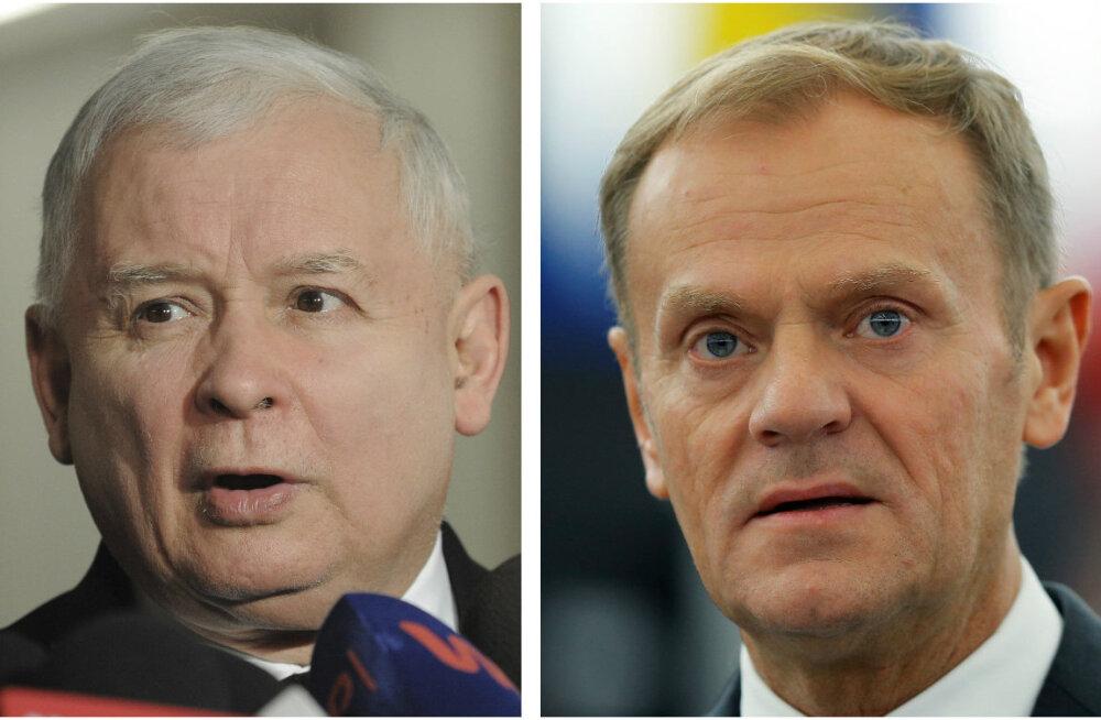 Poola kaadritagune juht Kaczyński ei toeta Donald Tuski jätkamist Euroopa Ülemkogu presidendina