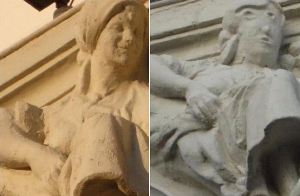 """Очередная неудачная реставрация: в Испании изящную статую превратили в """"подтаявшего снеговика"""""""