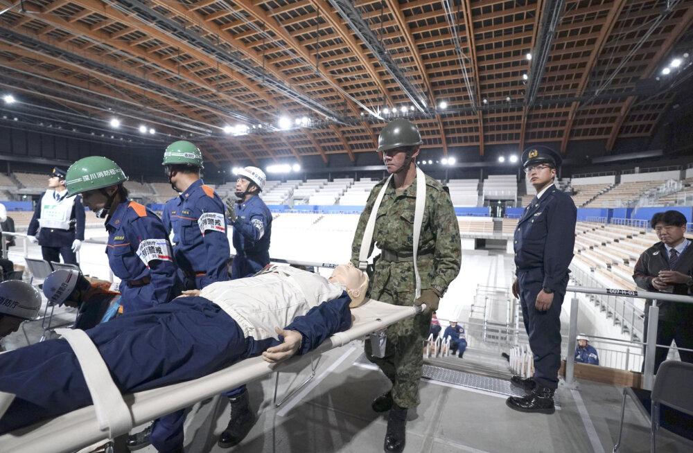 VIDEO | Tokyo olümpia korraldajad mängisid võimlemisareenil läbi võimsa maavärina