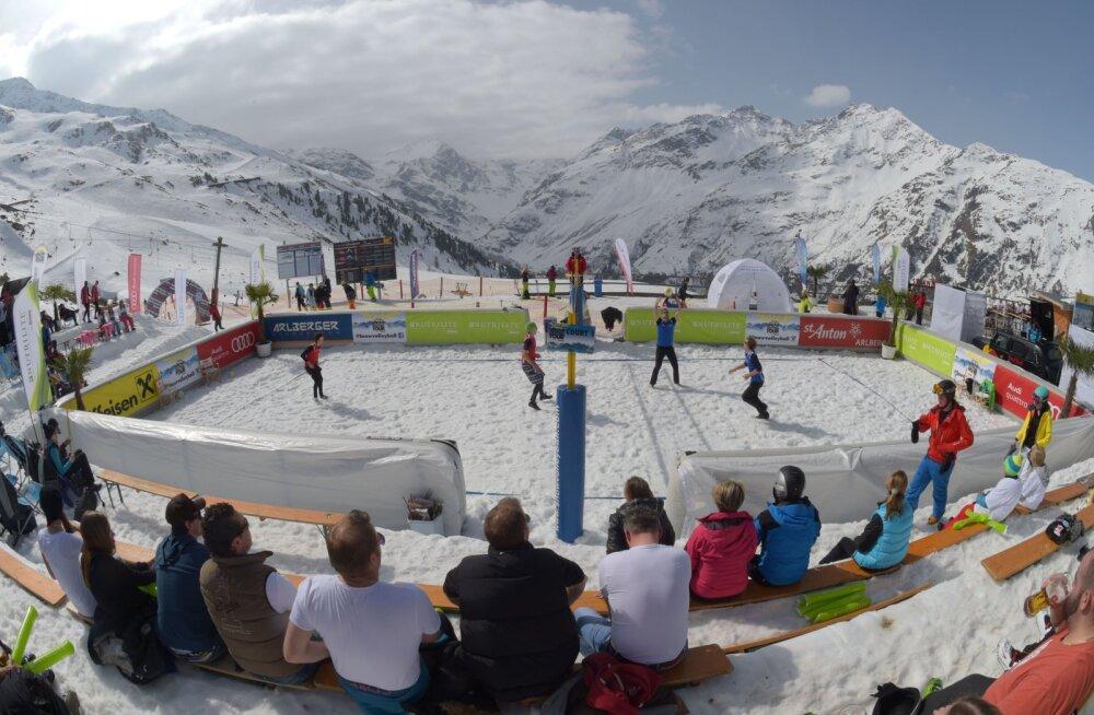 Otepää MK-etapil toimub Eesti-Läti maavõistlus lumevõrkpallis