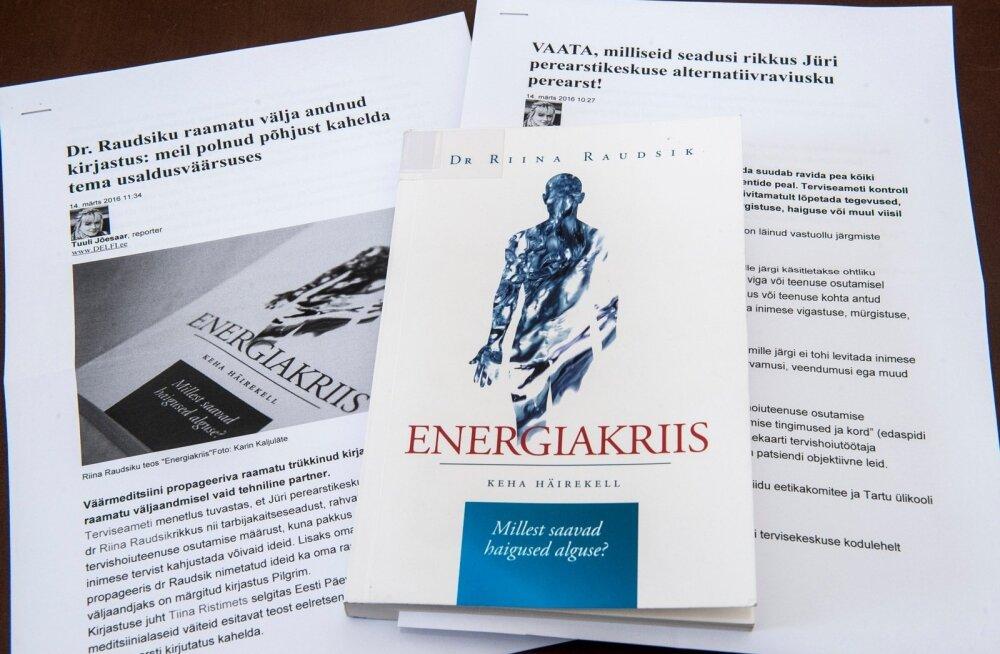 """Riina Raudsiku raamat """"Energiakriis"""""""