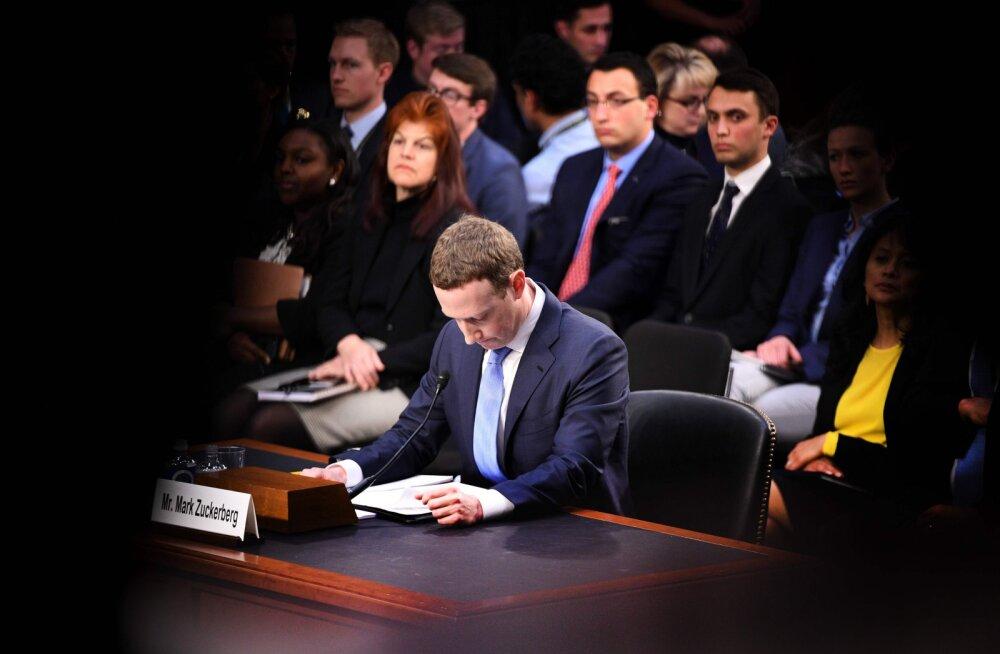 FOTO | Vaata Mark Zuckerbergi märkmeid USA senatile tunnistuste andmisel
