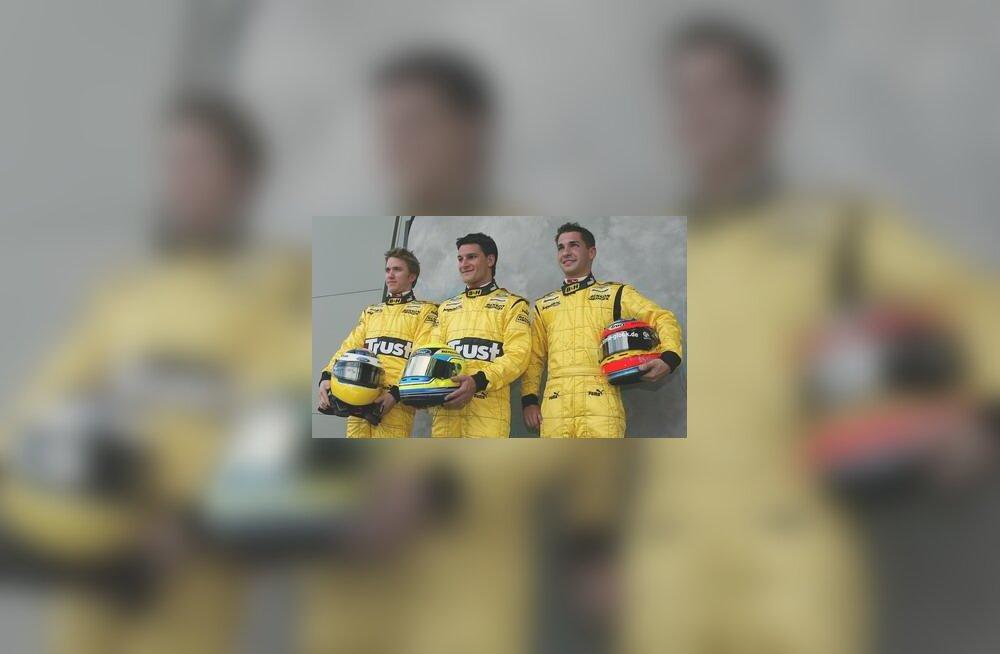 Nick Heidfeld, Giorgio Pantano ja Timo Glock Austraalia GP-l