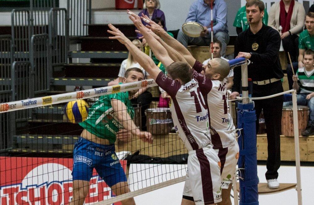 Võrkpalli meistriliiga poolfinaalis kohtuvad TTÜ ja Tartu