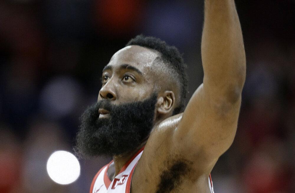 VIDEO   50 punkti ja kolmikduubliga säranud James Harden aitas Houston Rocketsi võidule
