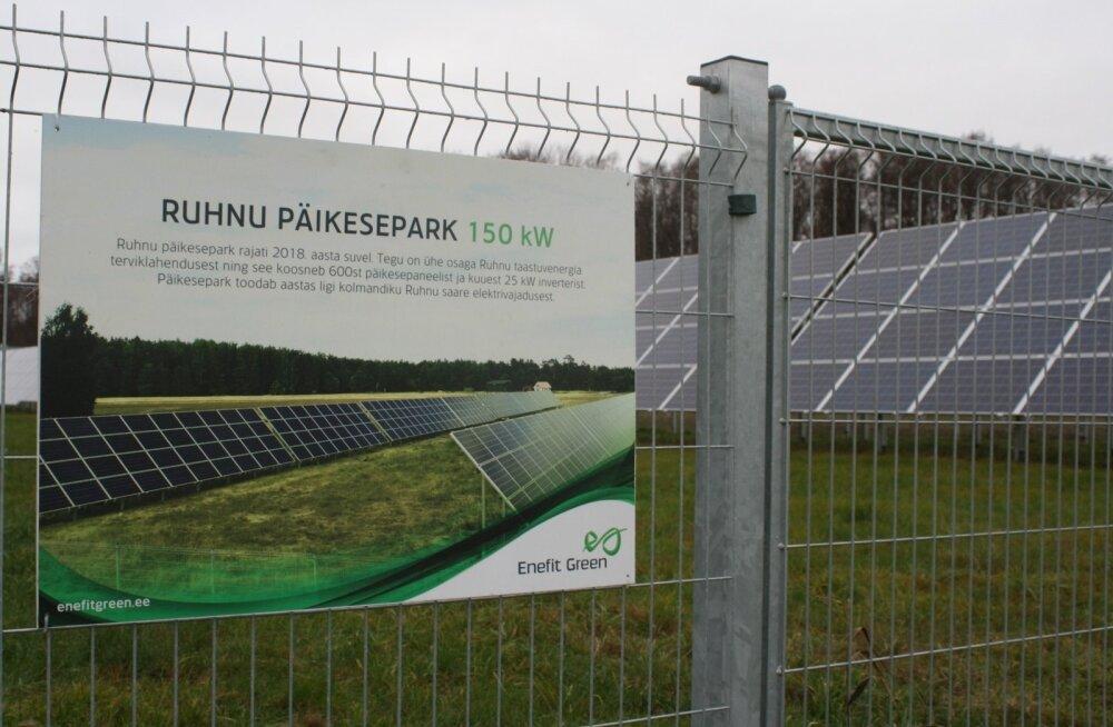 Ruhnu päikeseparki oleks põhimõtteliselt saanud samuti finantseerida roheliste võlakirjadega.
