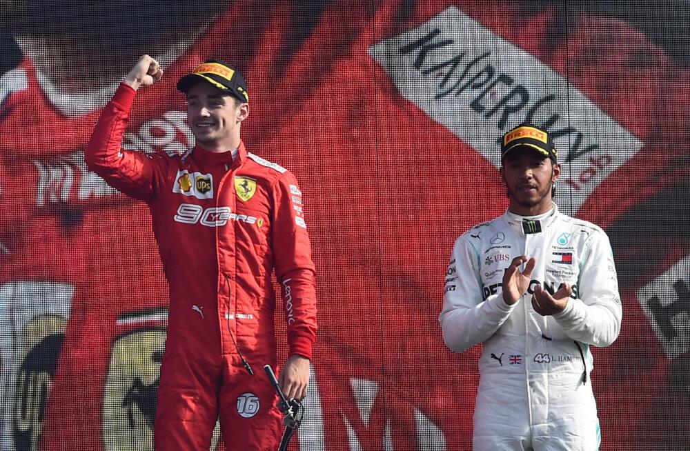 Charles Leclerc ja Lewis Hamilton