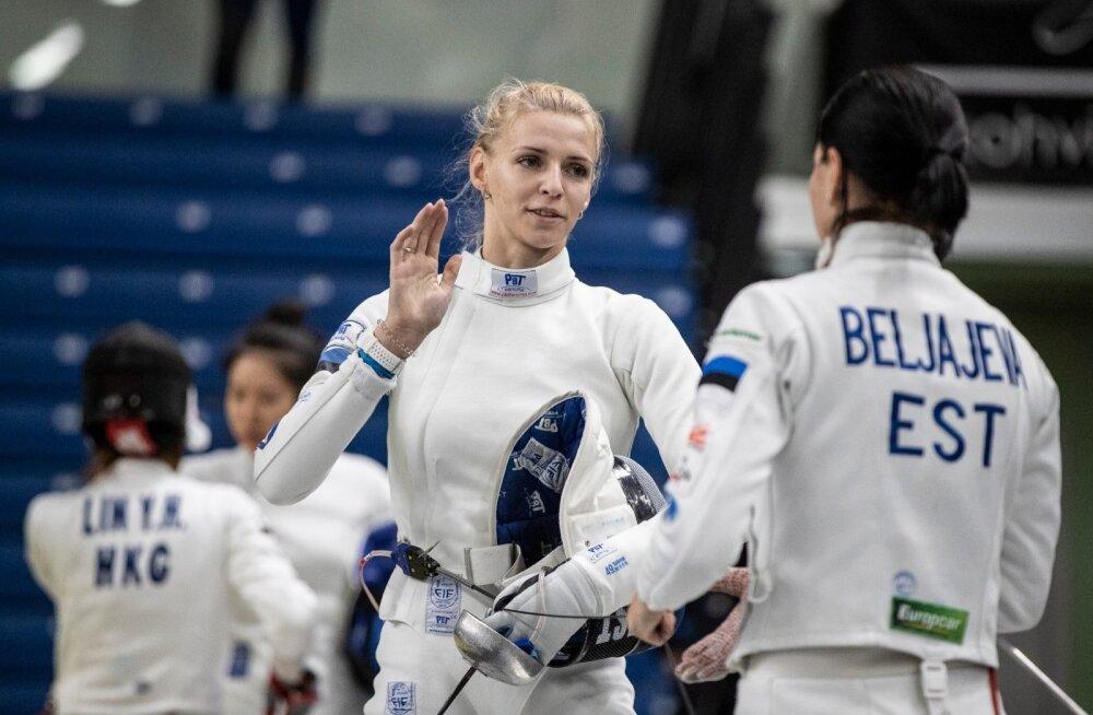 Naiste epee MK-etapp Tallinnas naiskondlik võistlus 11.11.2018