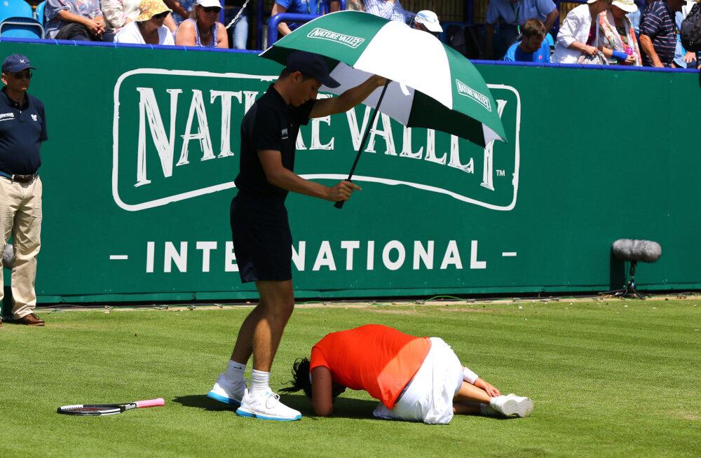 Raskest seisust välja tulnud ja ehmatuse üle elanud tuneeslanna pääses Eastbourne'is poolfinaali