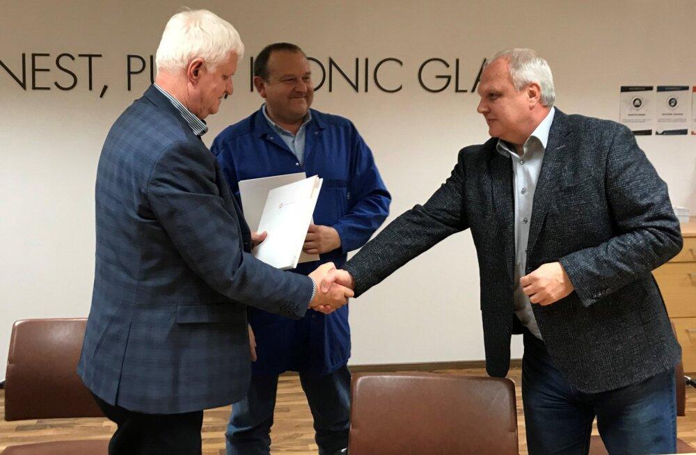 Касса по безработице заключила соглашение о сотрудничестве со стекольным заводом в Ярваканди