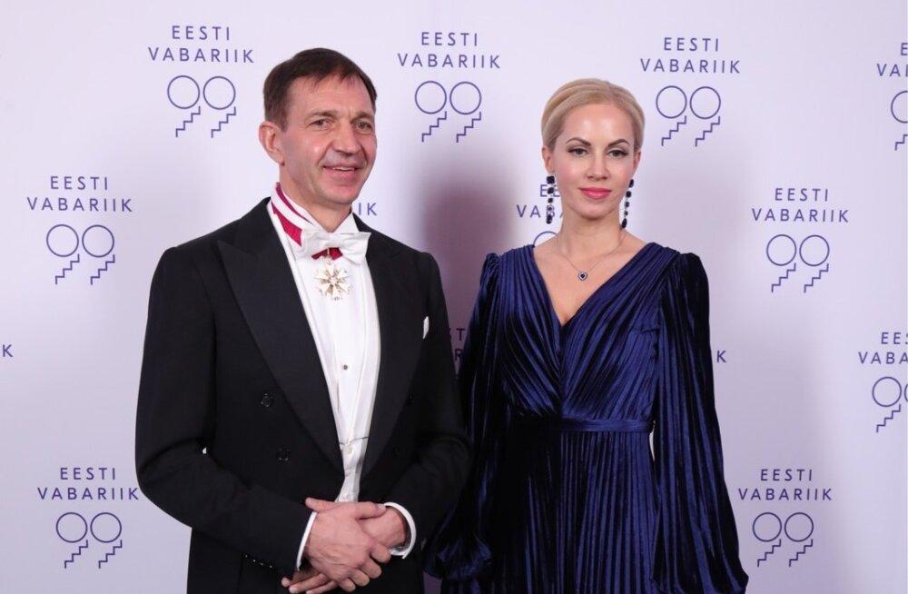 Eesti Olümpiakomitee president Urmas Sõõrumaa ja proua Kätlin Maran