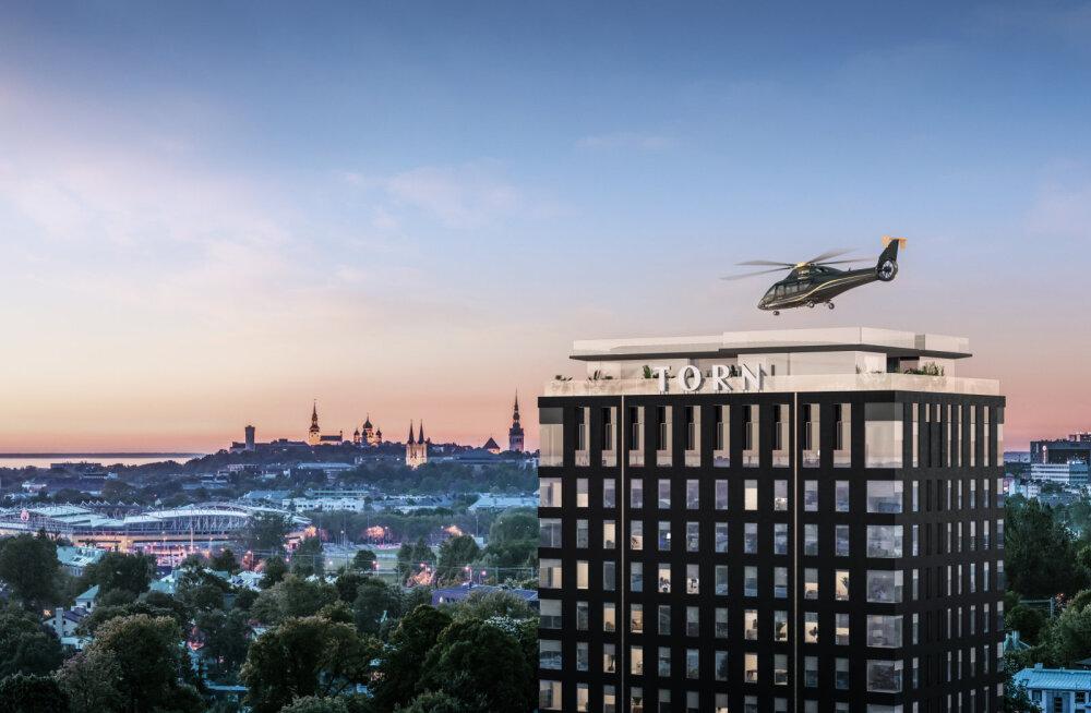 Kinnisvaraarendaja taotleb 20-korruselise maja katusele kopterite maandusmisplatsi