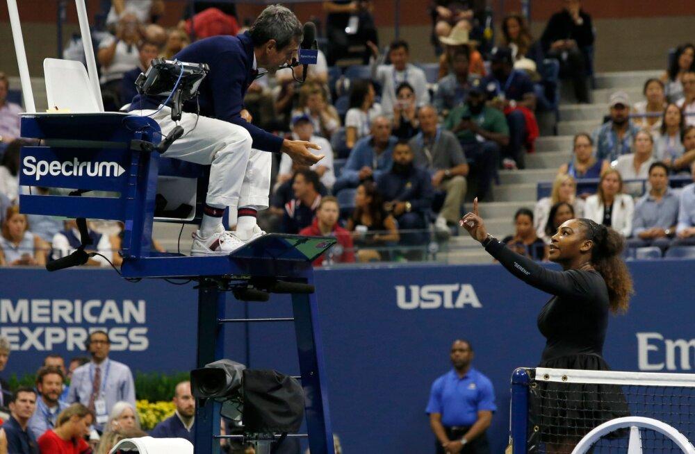 WTA boss ja US Openi korraldaja toetavad Serena Williamsit: kohtunik käitus seksistlikult