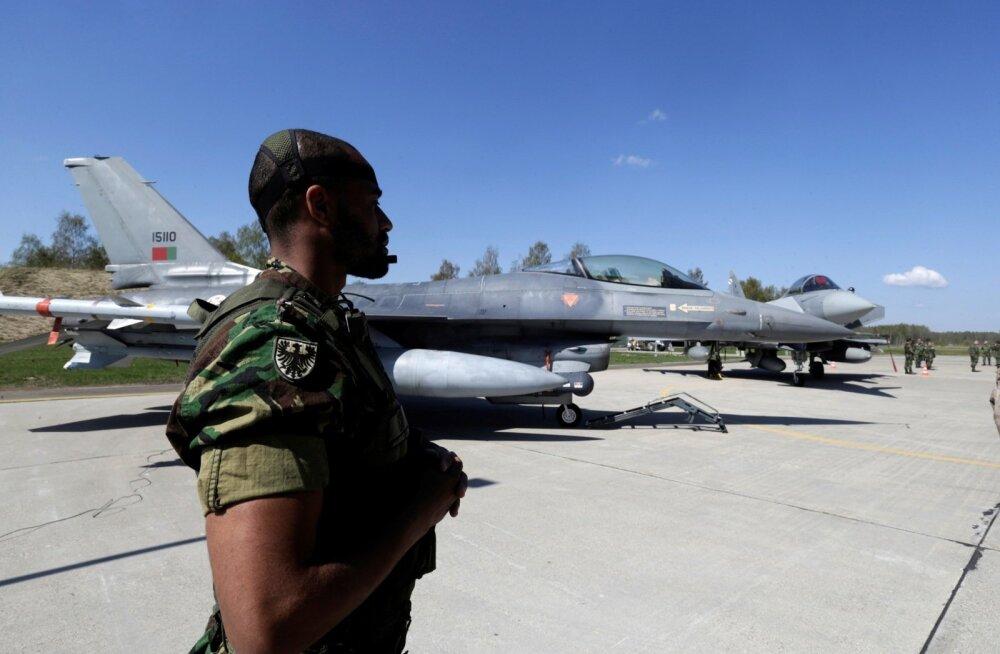 Portugali lennuväelane Leedus. Portugal osaleb Balti õhuturbemissioonil juba neljandat korda.