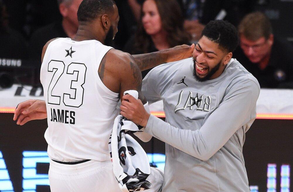 LeBron James ja Anthony Davis NBA Tähtede mängul