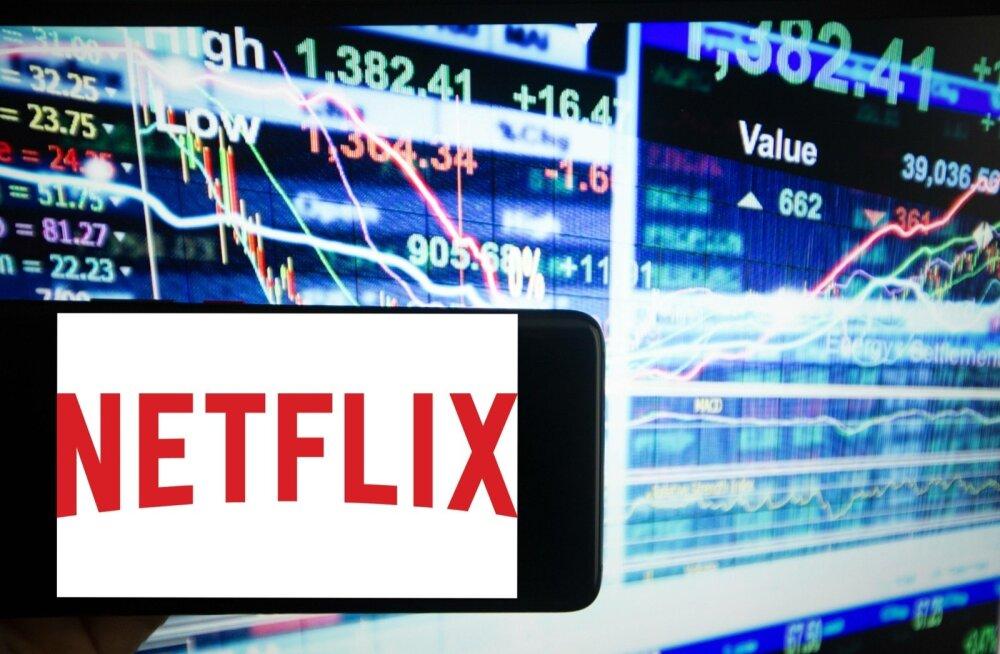 Netflixi aktsia sööstis alla.