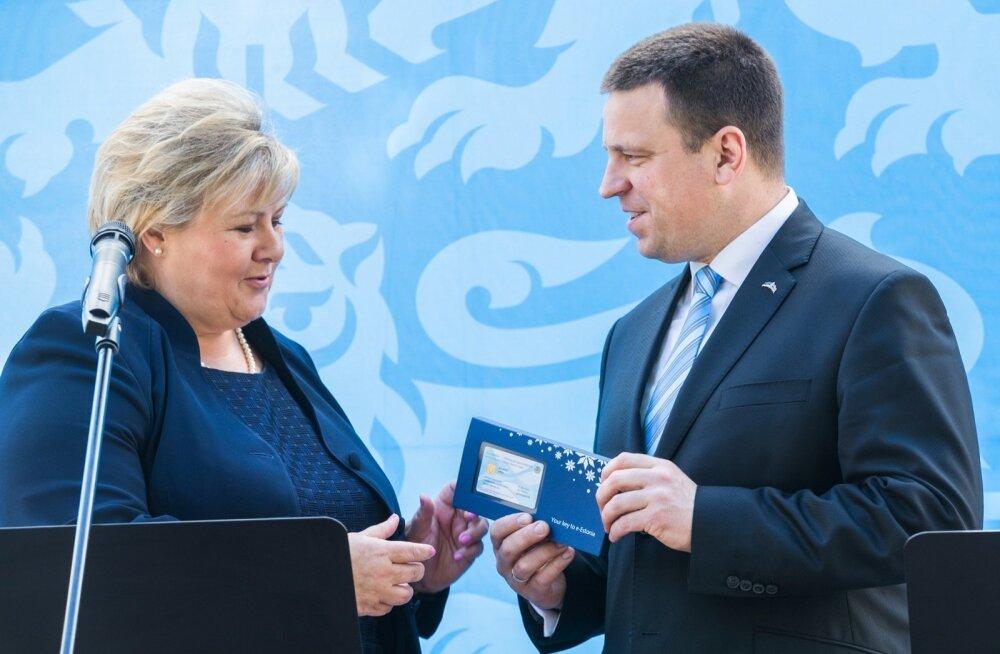 Erna Solberg külastas Jüri Ratast