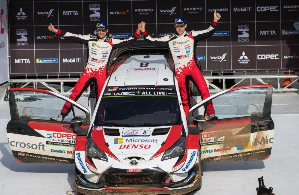 Ott Tänak ja Martin Järveoja on 14-st tänavuse hooaja võistluspaigast võidutsenud seitsmes erinevas kohas. Poodiumikoht on ainsana puudu Portugalist.