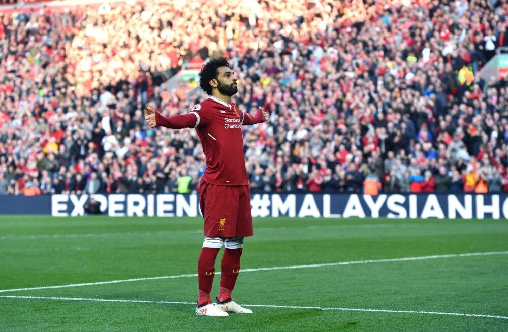FC Liverpooli ründeliider Mo Salah on löönud järjekrodse värava.