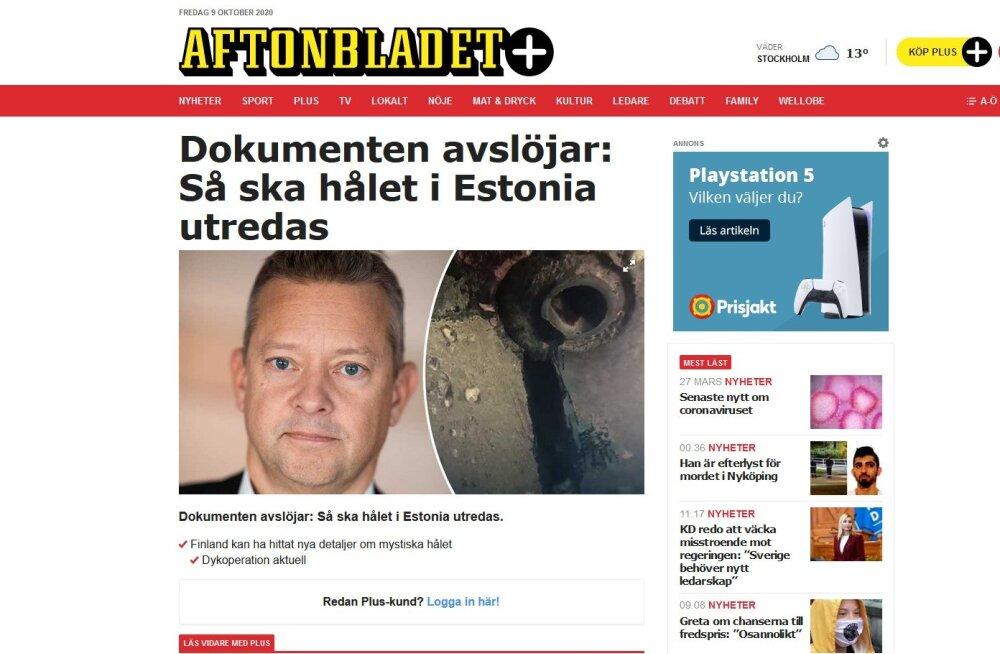 Soome uurimisametkonna juht Rootsi lehe artiklist Estonia kohta: ei pea paika, jama!