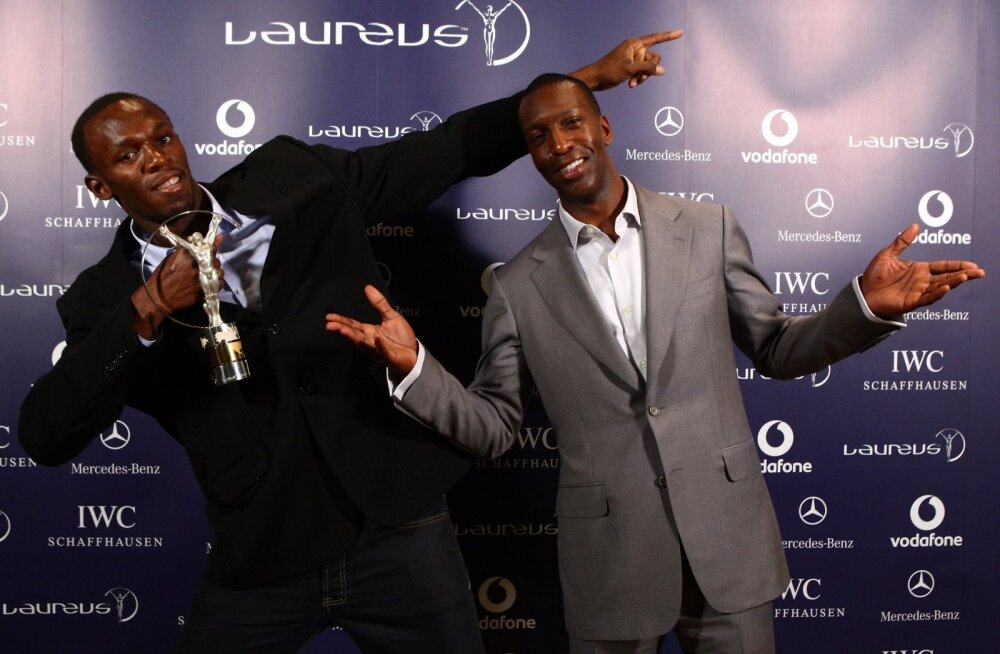 Endiste aegade legend Michael Johnson koos Usain Boltiga
