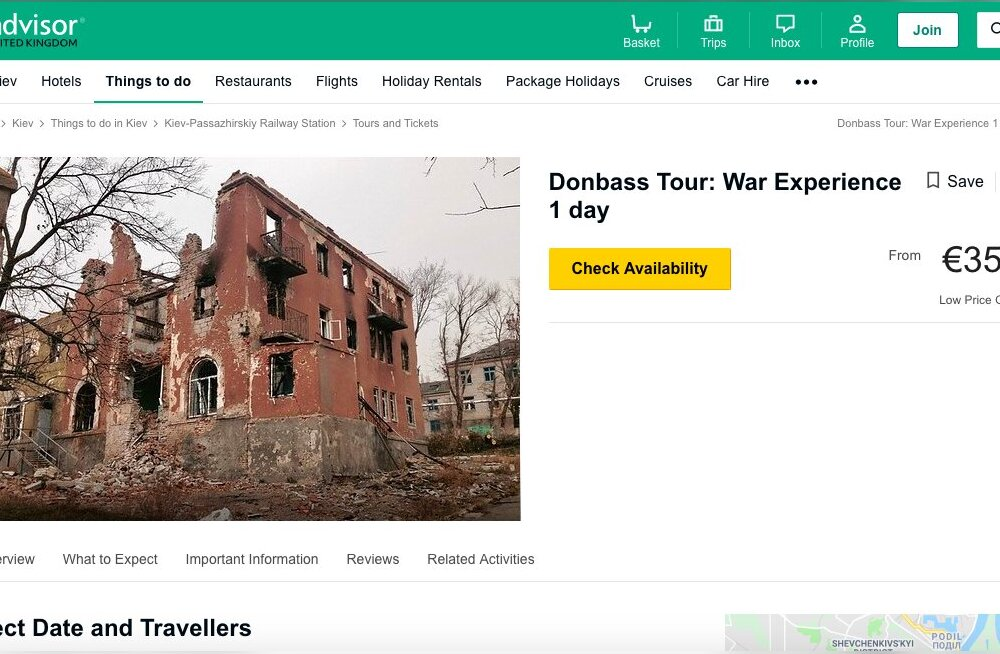 """""""Окунись в войну"""": TripAdvisor предлагает туристам совершить экскурсию по Донбассу"""