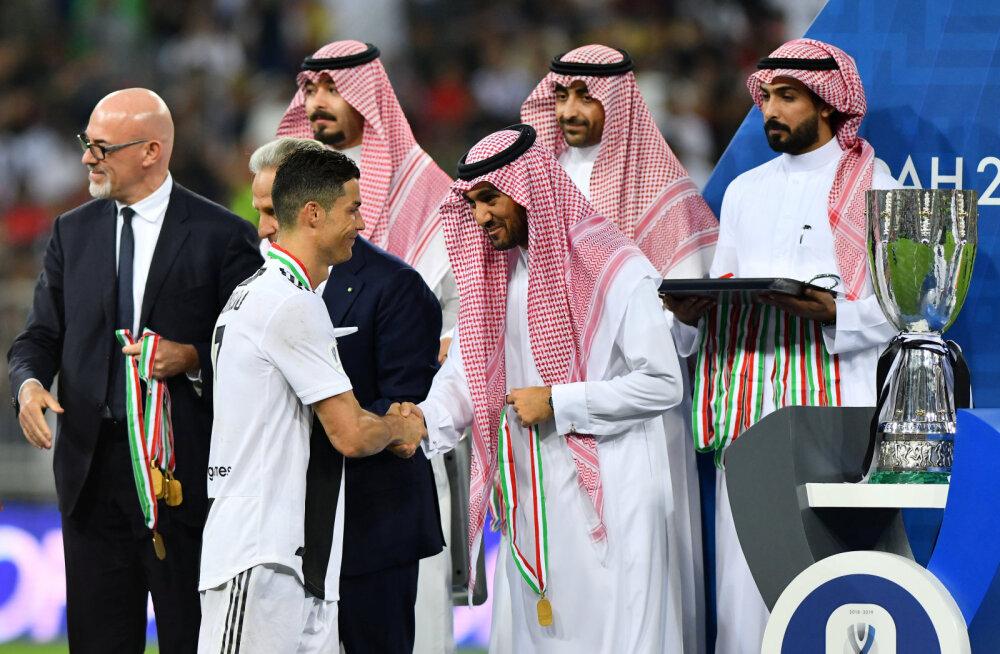 Ronaldo peaga värav otsustas vastuolulises riigis peetud Itaalia superkarika saatuse