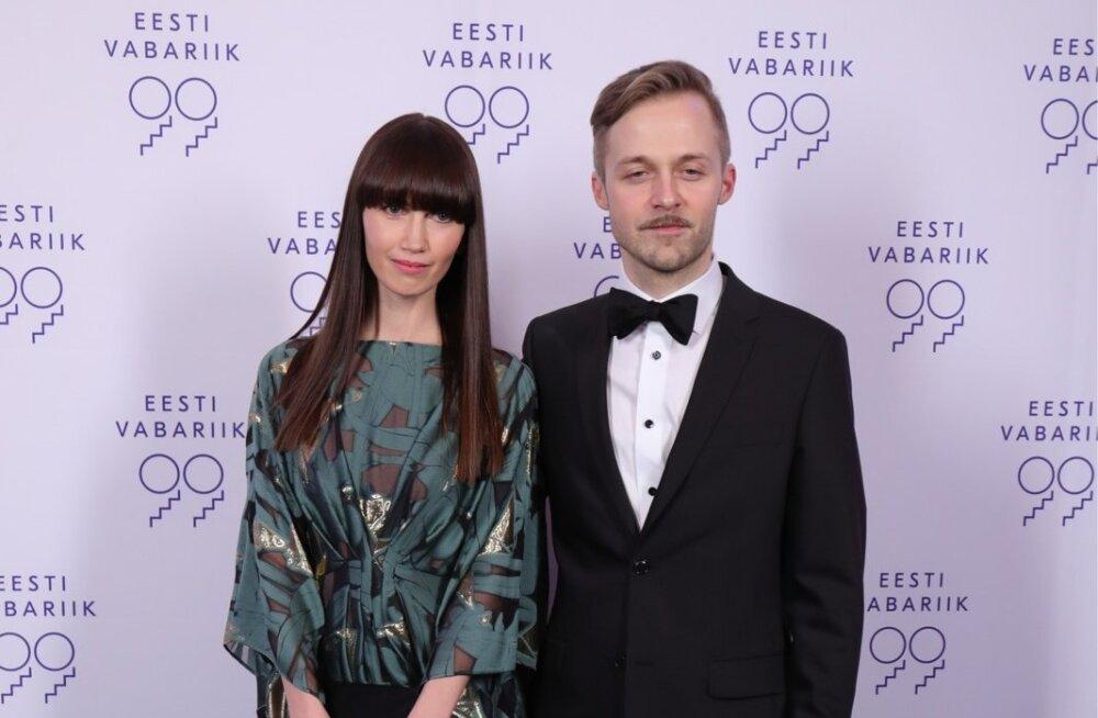 Eesti Vabariik 99 muusikajuht Erki Pärnoja ja pr Anna Põldvee