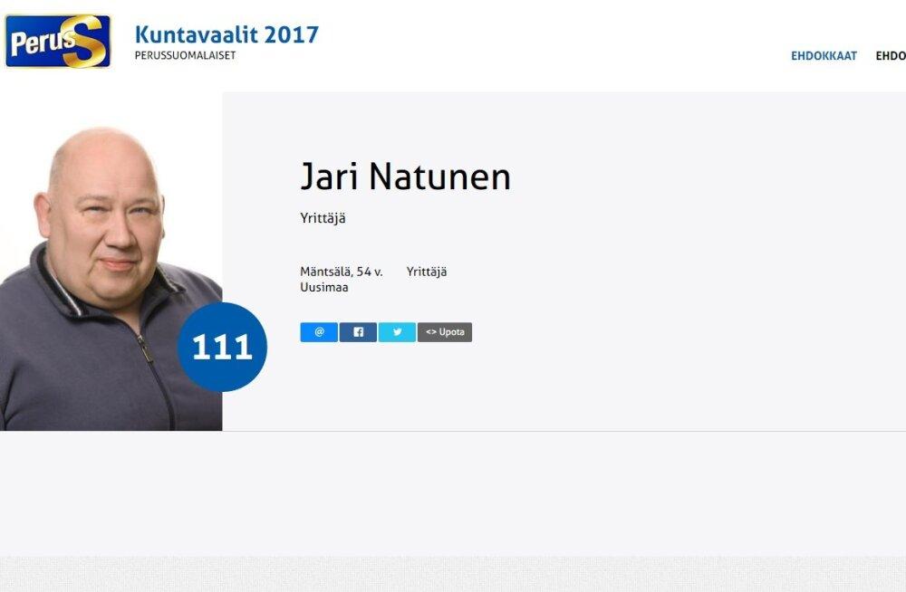 Põlissoomlaste kohalike valimiste kandidaadi minevikust leidub 5 kilo amfetamiini Eestist Soome vedamine