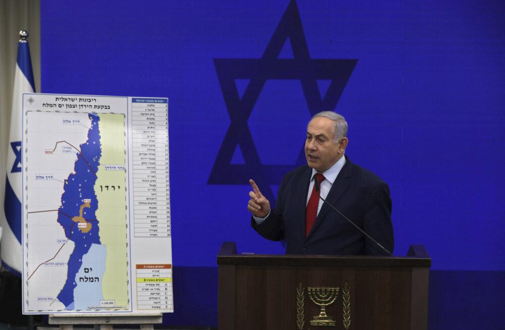Iisraeli peaminister Netanyahu lubas valimisvõidu korral annekteerida okupeeritud Jordani oru