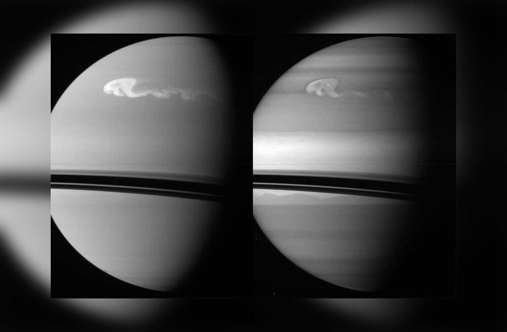 Kõik orkaanid kahvatuvad, kui Saturnil tuuliseks kisub