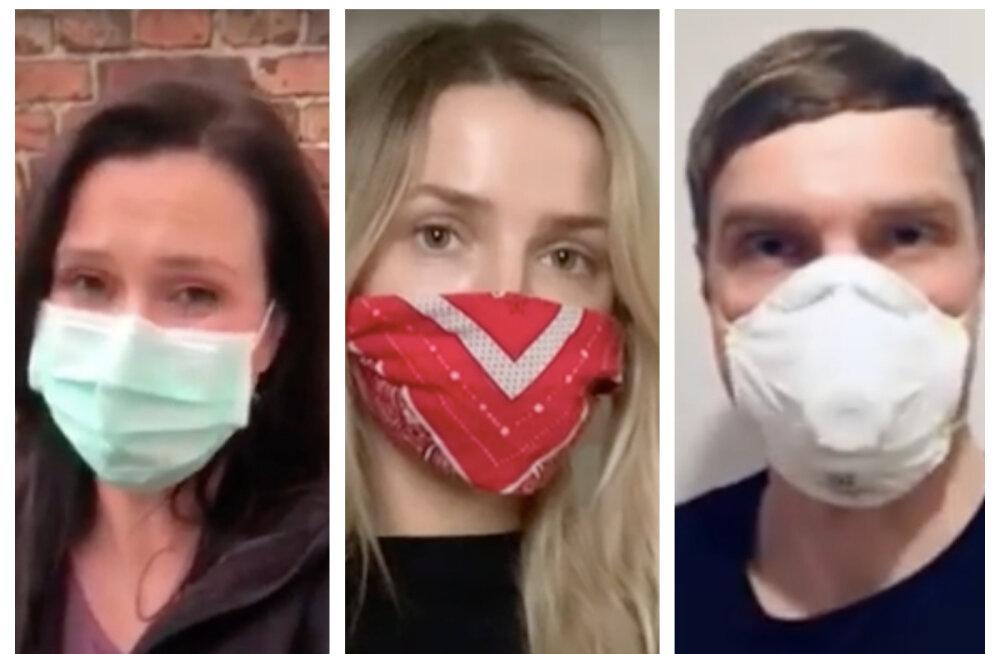 VIDEO   Mitmed armastatud Eesti staarid on liitunud kodanikualgatusega, mis õhutab inimesi avalikus ruumis maski kandma: murrame koroona üheskoos