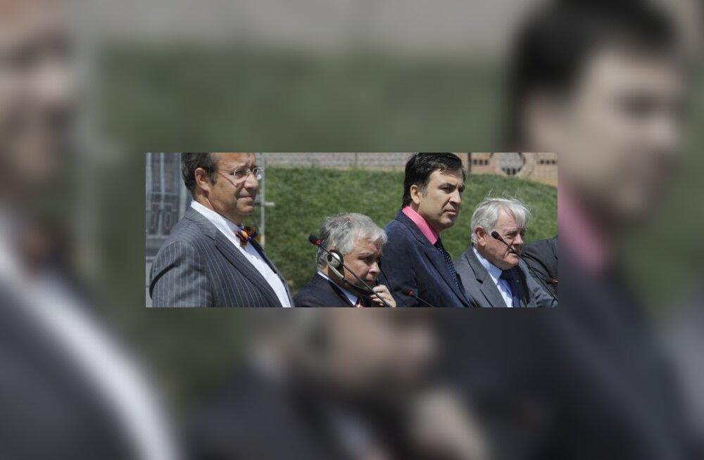 Toomas Hendrik Ilves, Lech Kaczynski, Mikheil Saakashvili, Valdas Adamkus