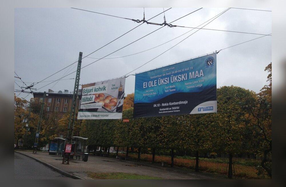 FOTOD: Tallinna linnavalitsuse korraldatud kontsert on ammu läbi, kuid reklaamid on ikka väljas