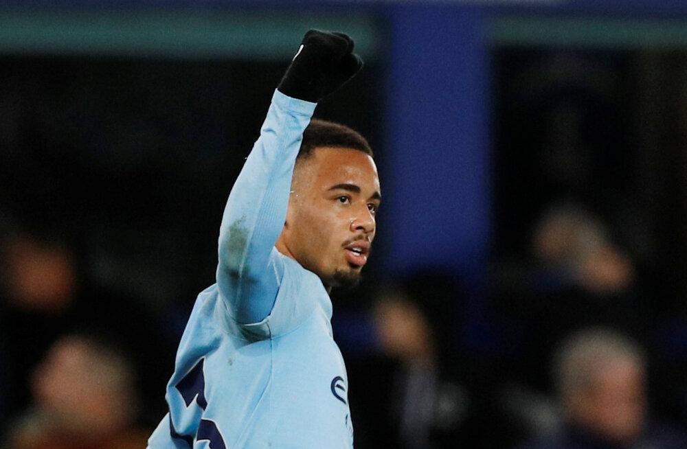 Evertoni võitnud Manchester City tõusis tabeliliidriks