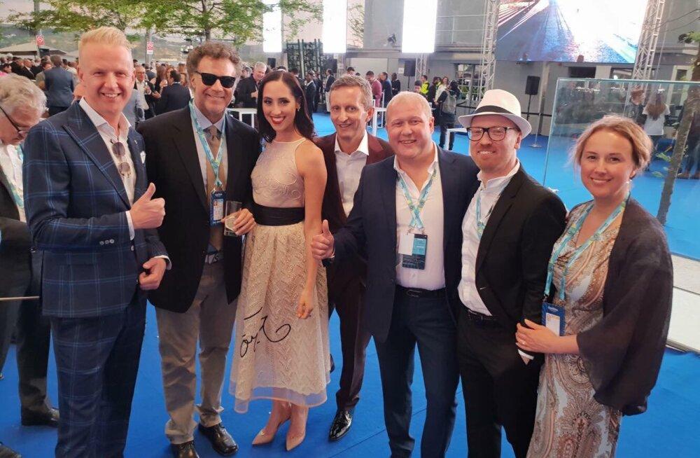 VAHVA KLÕPS   Eesti eurotiim tutvus Eurovisioni avapeol maailmakuulsa näitleja Will Ferrelliga