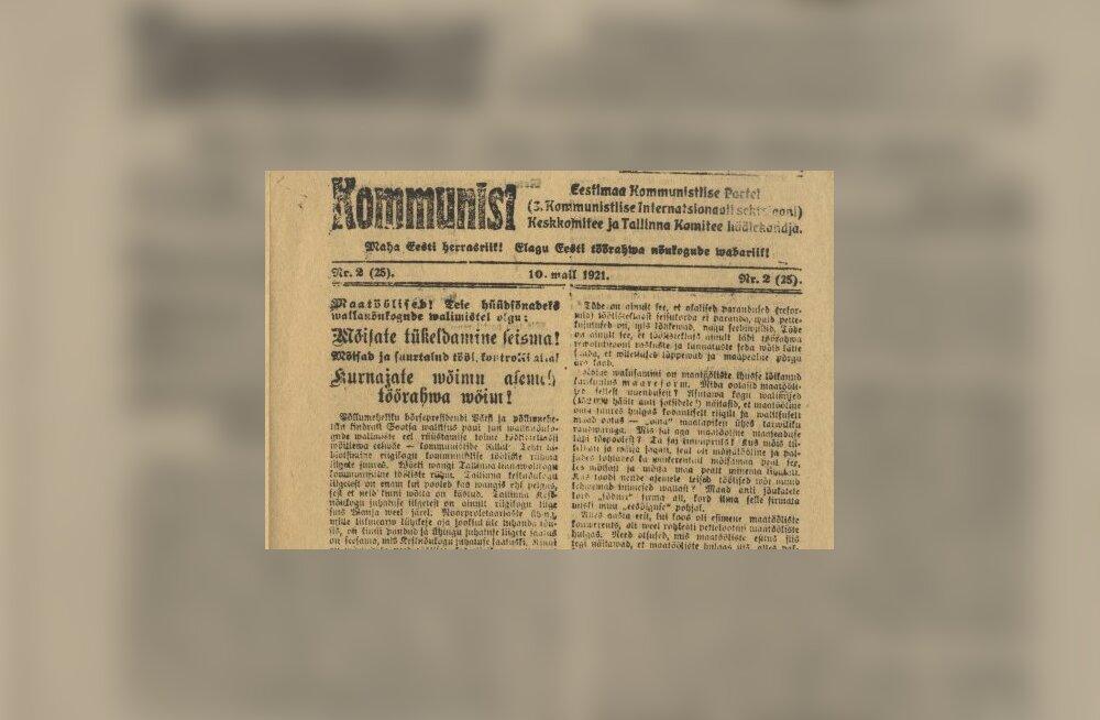 Valimised Tallinnas 1921. a: kommunistide suurvõit (aga nad pandi seejärel vangi)